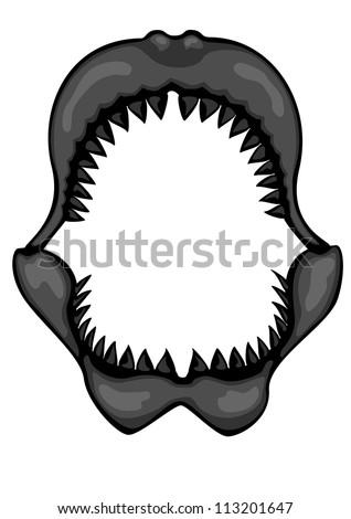 Shark jaws stock photos illustrations and vector art