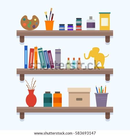 vector books on bookshelves library literature stock cat bookshelf tote cat bookshelves