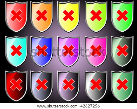 Shield icon with stop