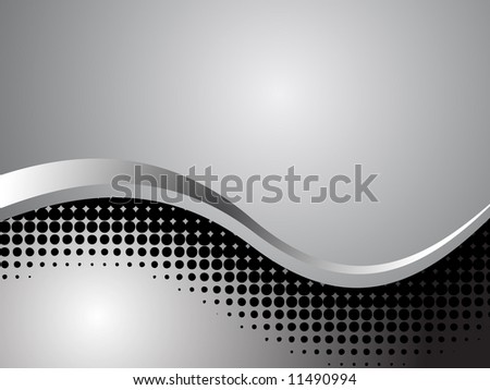 Shiny Chrome Abstract Technology Background - Vector