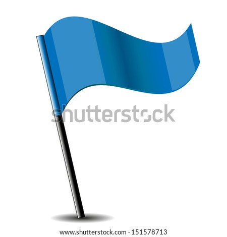 Shiny Flag Icon. High quality vector illustration. Eps10.
