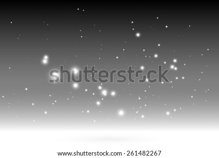Shiny sparkles falling vector background template - Vector glitters and sparkles on gray background illustration