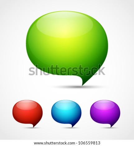 Shiny speech bubbles vector background