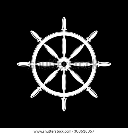Ship Rudder Icon