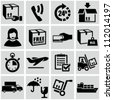 Shipping and delivery icons set. - stock photo