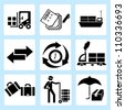 shipping icon set, logistic - stock vector