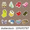 shoe stickers - stock vector