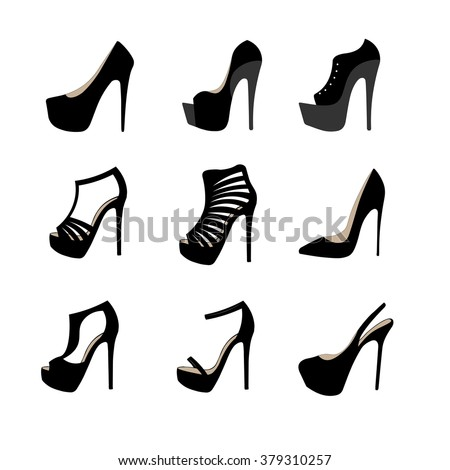 Shoes for woman sketch