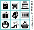 shopping and e commerce icon set - stock vector
