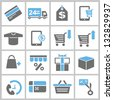 shopping and marketing concept icons set - stock photo