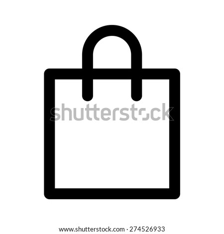Shopping Bag Flat Icon Apps Websites Stock Vector 274138055 ...