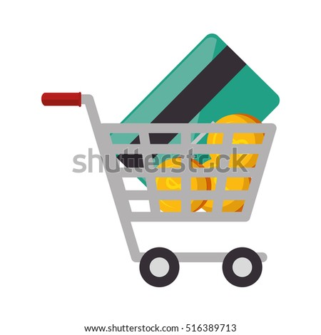 shopping cart commercial icon