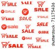 Shopping cart. Vector great collection. - stock
