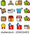 Shopping icon set B - stock photo