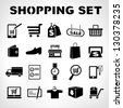 shopping icons set, e commerce set - stock vector