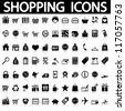 Shopping icons set. Vector - stock photo