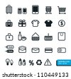 Shopping icons set. Vector design. - stock vector
