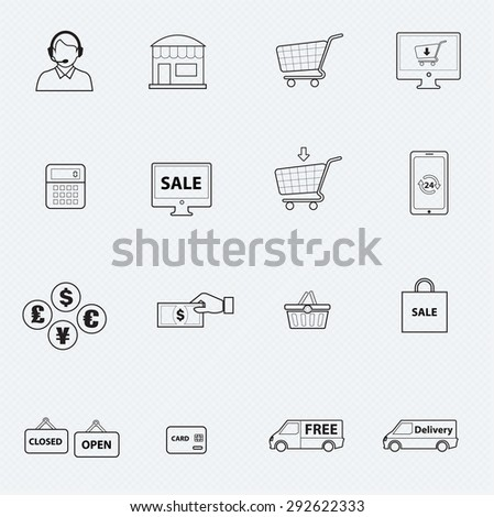 shopping line icon