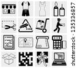 Shopping vector icons set. - stock vector