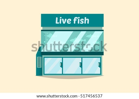 Vector illustration buyers make purchase store stock for Live fish store