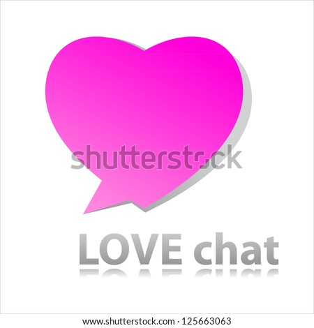 Sign of love-chat. Heart - speech-bubble. Vector