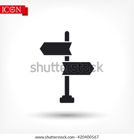 signpost icon. vector 10 EPS