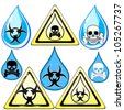 Signs for dangerous liquid - stock photo
