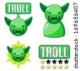 Signs for troll - stock photo