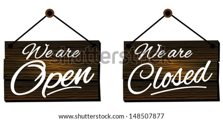 Signs we are Open and closed