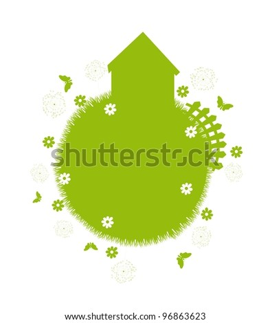 silhouette nature green isolated over white background. vector