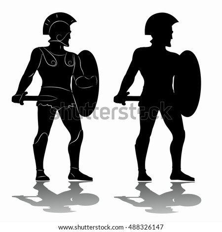 how to draw ancient greek warriors