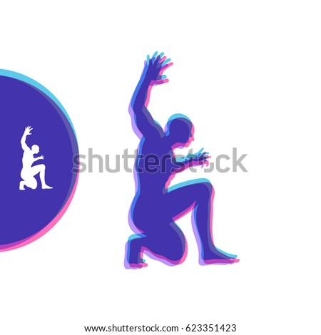 Five Silhouettes Dancer Stock Vector 209066584 - Shutterstock