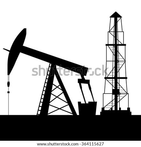 Oil Industry Logo Tower Oil Exploration Stock Vector ...