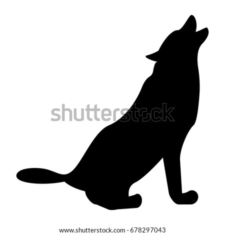 silhouette of the wolf black icon