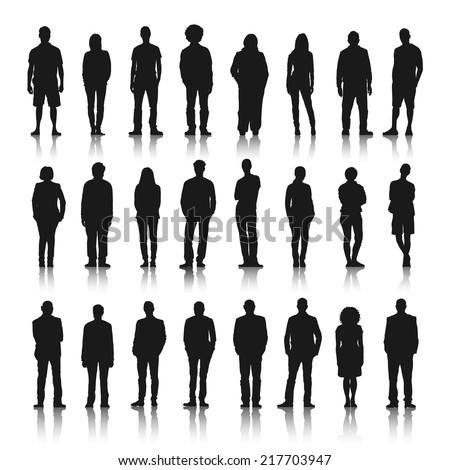 Silhouettes Man Stock Vector 32657392 - Shutterstock