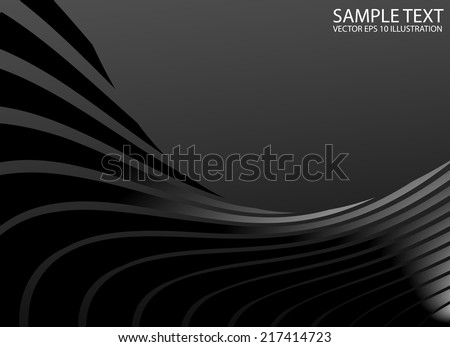 Silver metal abstract swirled background template - Vector abstract shape background illustration