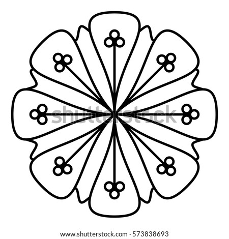 simple floral mandala pattern for coloring book pages tattoo prints and decorative stamps easy - Simple Mandala Coloring Pages Kid
