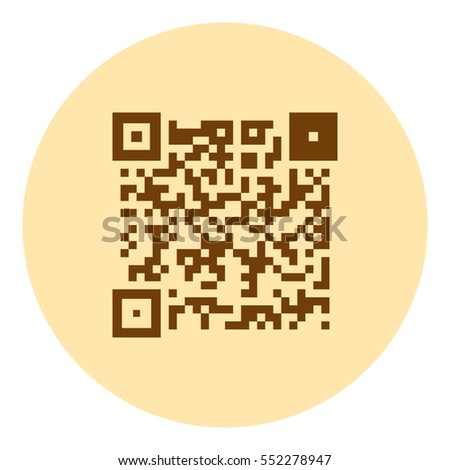 Simple icon QR code stock vector illustration