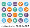 Simple  icons set. Car sale. Set 2 - stock vector