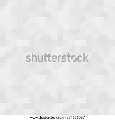 Simple seamless vector pattern - light gray abstract geometric figures background. EPS8