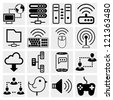 Simple Series | Internet,business,c loud computing icon set - stock vector