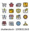 Simple Series | Network,Shopping icon set - stock vector