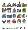 Simple series | Travel,landmarks,trip,business travel icon set - stock vector
