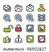 Simple series | Web,Internet, Business icons Set - stock vector