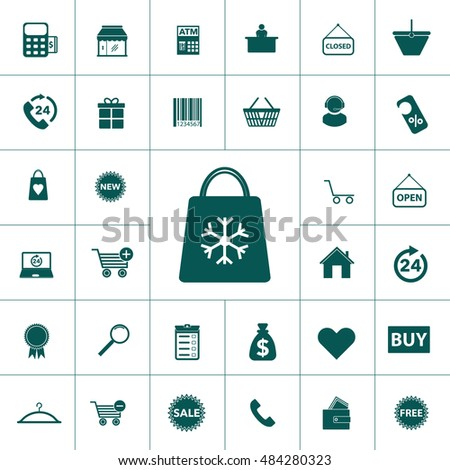 simple shopping icon set