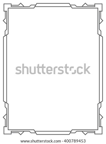 Simple vector black frame on a white background. vertical