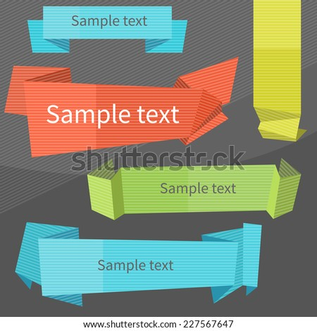 Simple vector paper banners