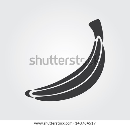Simple web icon in vector: banana