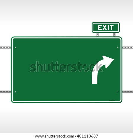Highway Exit Sign Template Uturn Roadsign ...