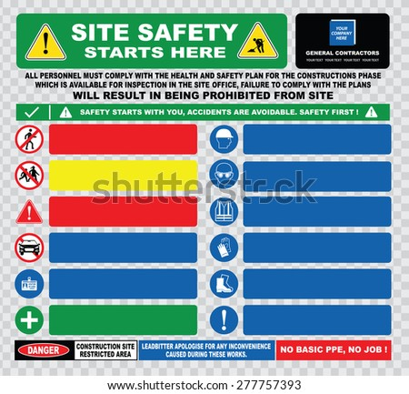 all visitors must sign in template - cool vector maker 39 s construction site sign set on